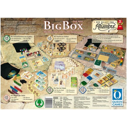 Der Palast von Alhambra Big Box Inhalt
