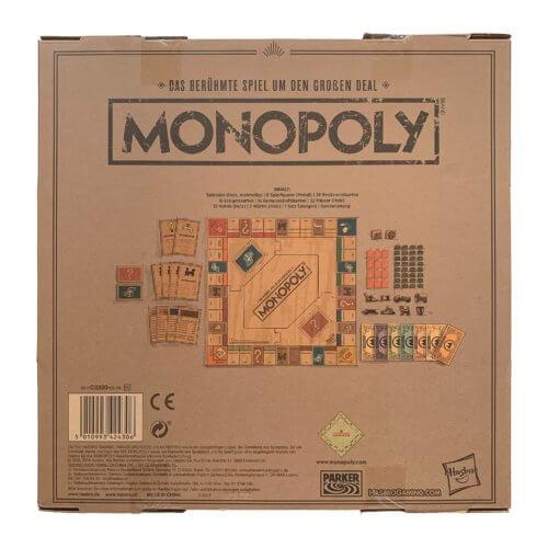 Monopoly Holz Sonderedition hinten