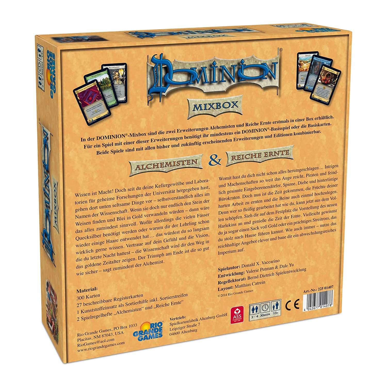 Dominion Mischbox Alchemisten Reich Ernte hinten