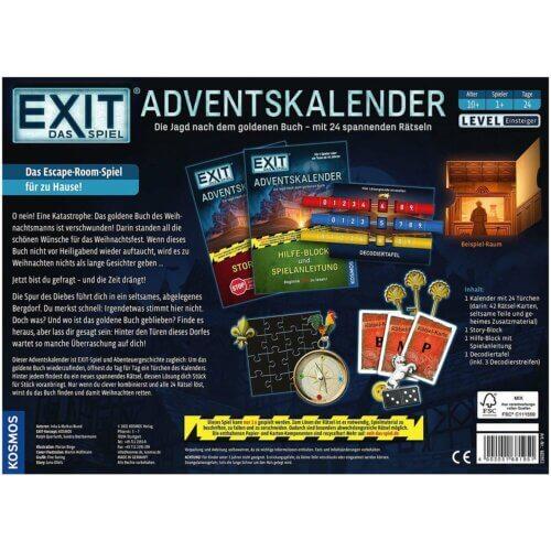 EXIT Adventskalender 2021 hinten